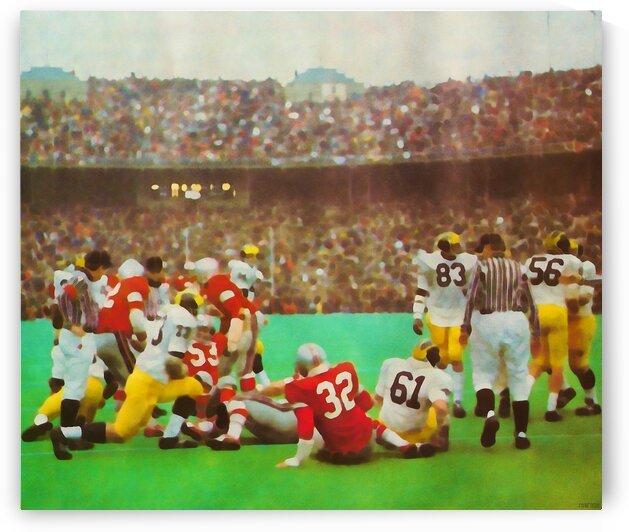 Vintage Ohio State vs. Michigan Action by Row One Brand