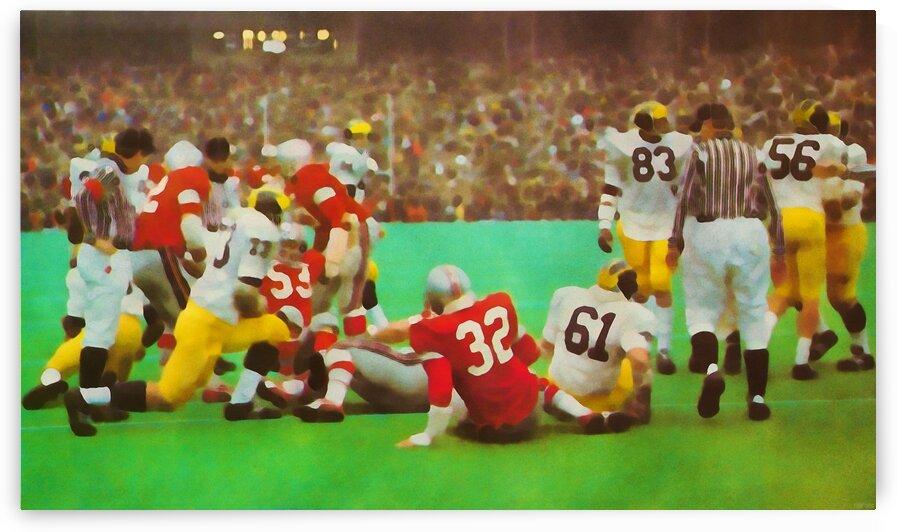 Ohio State vs. Michigan Football Art by Row One Brand