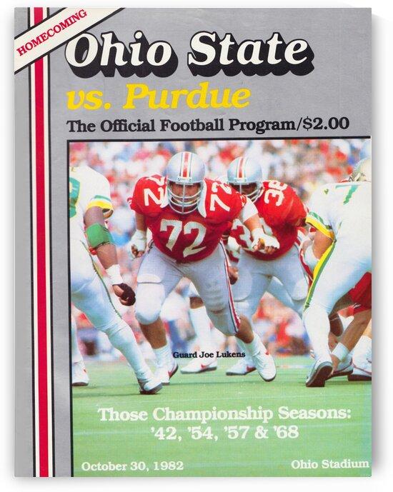 1982 Ohio State vs. Purdue Program Cover Art by Row One Brand