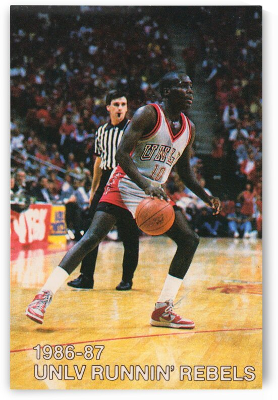 1986 UNLV Rebels Basketball Print by Row One Brand