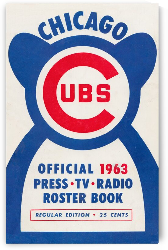 1963 Chicago Cubs Press Book Art by Row One Brand
