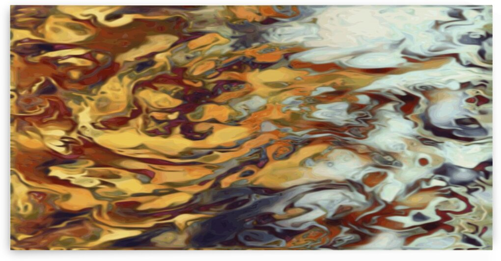 Tiger Chest - gold orange gray black white red gradient swirl abstract wall art by Jaycrave Designs