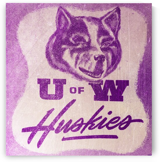 1948 Vintage Washington Huskies Art by Row One Brand