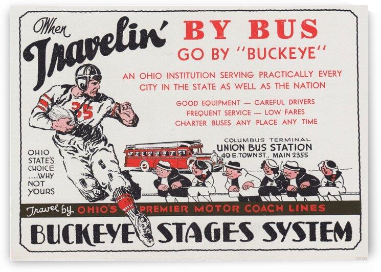 1935 Buckeye Bus Ad by Row One Brand