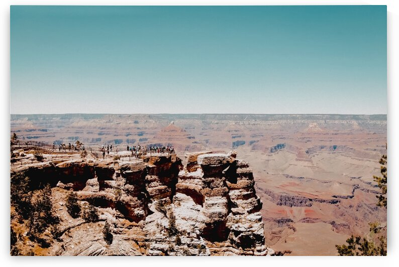 Desert mountain view with blue sky at Grand Canyon national park Arizona USA by TimmyLA