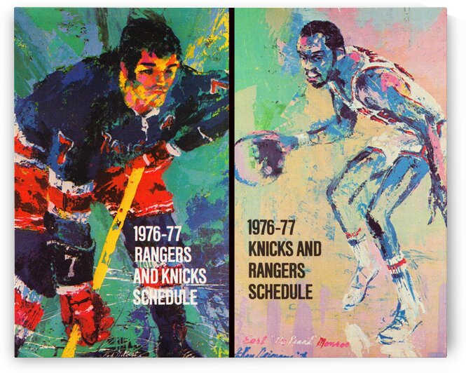 1977 New York Knicks and Rangers Art by Row One Brand