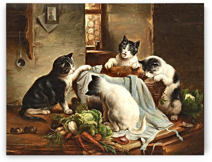 Cats On The Kitchen Table_OSG by One Simple Gallery