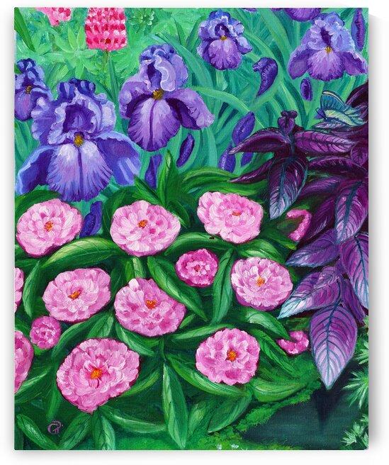 Peonies and Irises by Geneva Price