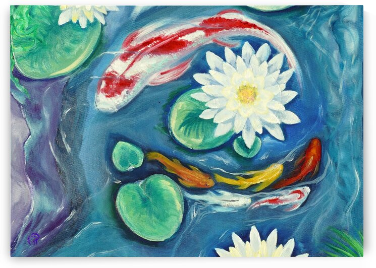 Multi-colored Koi by Geneva Price