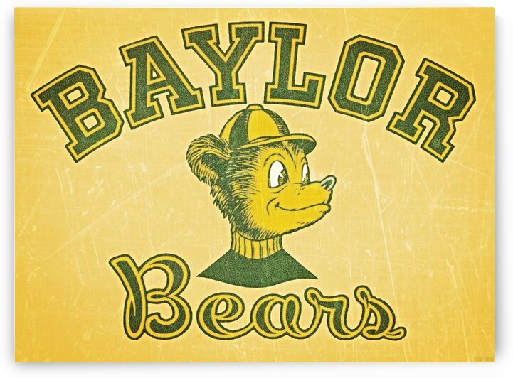 Vintage Baylor Bears Art by Row One Brand