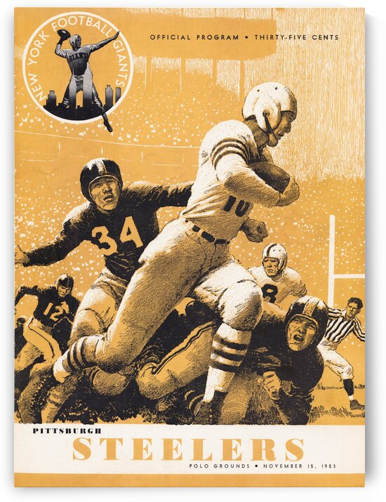 1953 Pittsburgh Steelers vs. New York Giants Program by Row One Brand