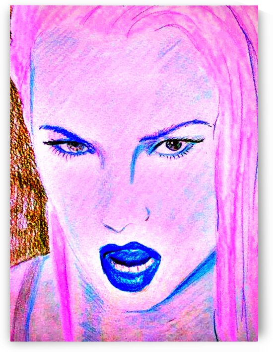 Traci Lords art Painting Traci Lords actress model and singer. by Smithson