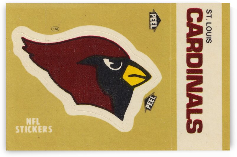 1982 St. Louis Cardinals Fleer Sticker Art by Row One Brand