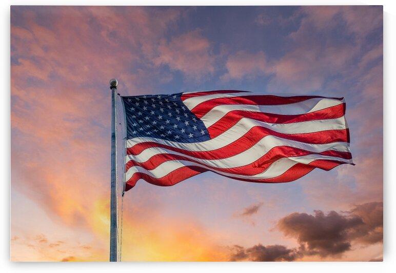 AmericanFlagBacklit Edit by Darryl Brooks
