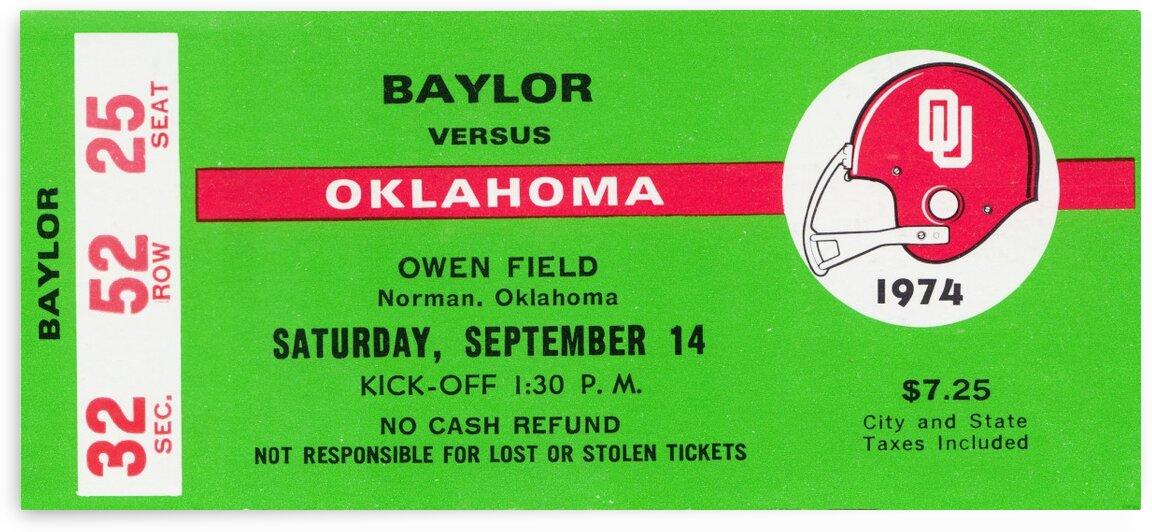 1974 Oklahoma vs. Baylor by Row One Brand