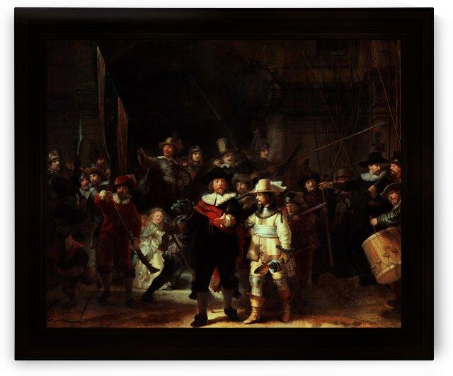 The Night Watch De Nachtwacht by Rembrandt van Rijn Classical Fine Art Old Masters Reproduction by xzendor7