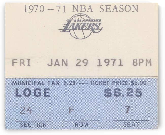 1970 Los Angeles Lakers by Row One Brand