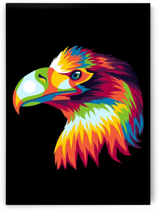 Bird of Prey in Colorful Pop Art Illustration by wpaprint