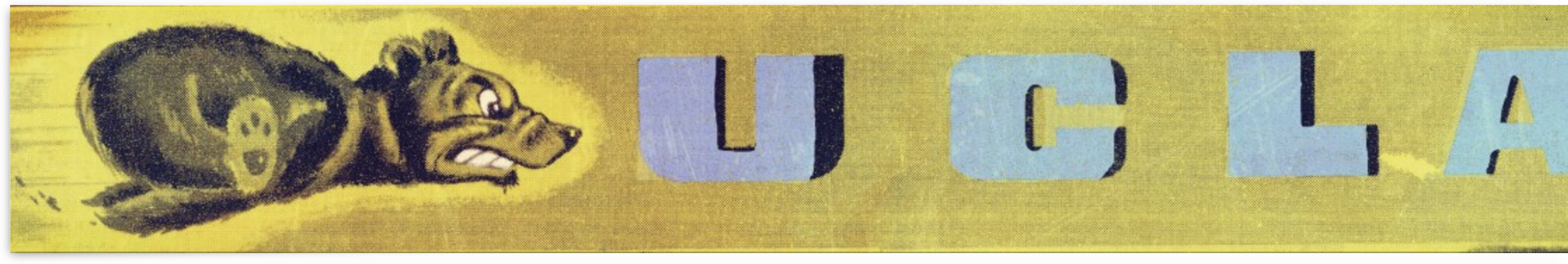 1948 ucla bruins art print by Row One Brand