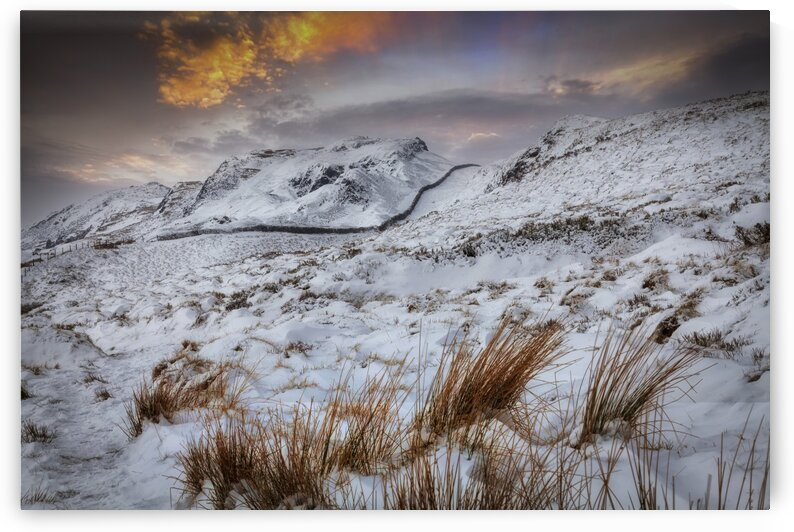 The snow capped beauty of Cribarth mountain by Leighton Collins