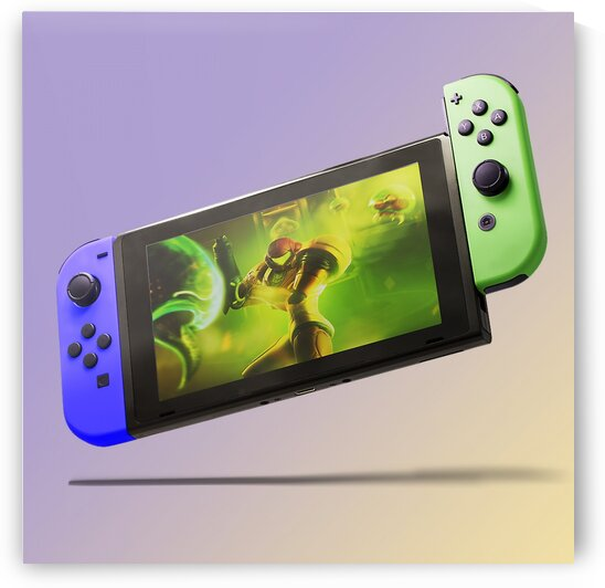Nintendo Switch Purple Green by CarlosDoesPhoto
