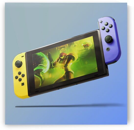Nintendo Switch Yellow Purple by CarlosDoesPhoto