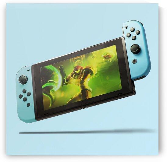 Nintendo Switch Blue by CarlosDoesPhoto