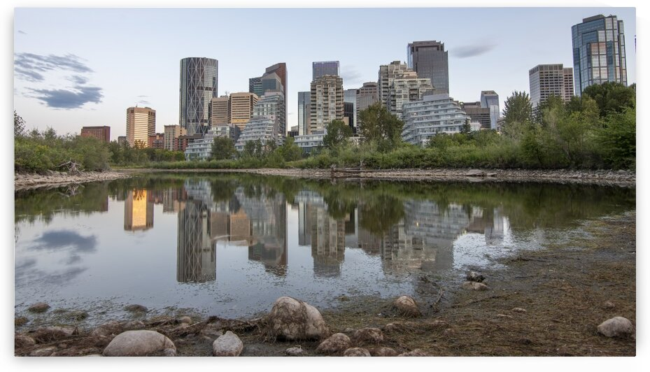 7048 - Calgary Downtown Skyline by Ken Anderson Photography