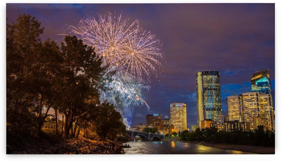 Calgary Fireworks by Ken Anderson Photography