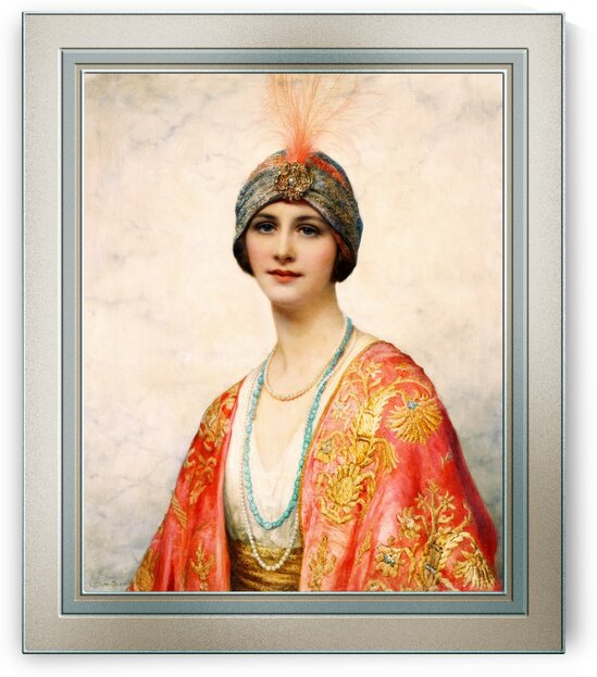 A Beauty In Eastern Costume by William Clarke Wontner Old Masters Fine Art Reproduction by xzendor7