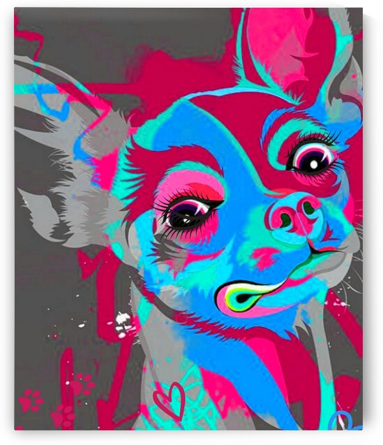 My Psychedelic Chihuahua by LeGustavienne
