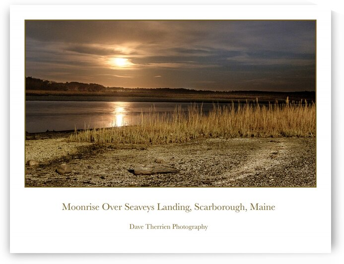 Moonrise over Seaveys Landing by Dave Therrien