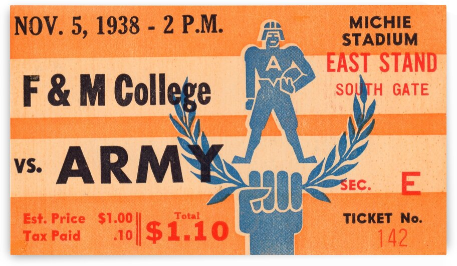 1938 Franklin and Marshall vs. Army by Row One Brand