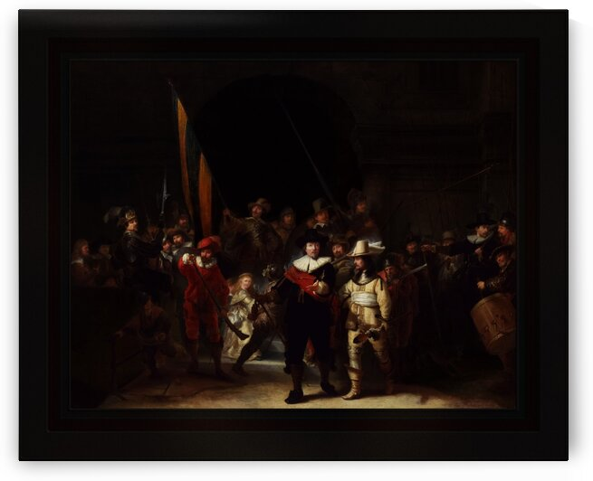 The Company of Captain Banning Cocq by Gerrit Lundens Classical Fine Art Old Masters Reproduction by xzendor7