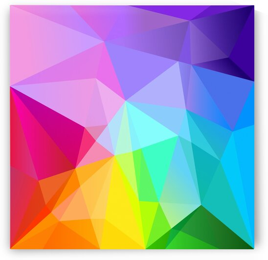 Low poly rainbow abstract by Aquamarine