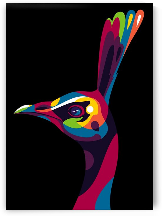 Peafowl in Colorful Pop Art by wpaprint