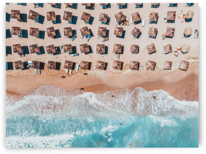 Aerial Beach Print Blue Ocean Coastal Photography Home Decor Aerial Photography Summer Vibes by Radu Bercan