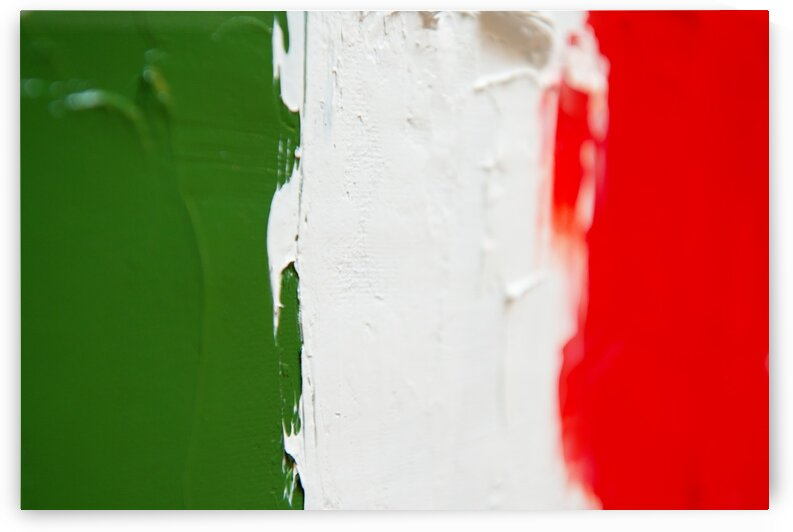 Italian flag oil painting by Aquamarine