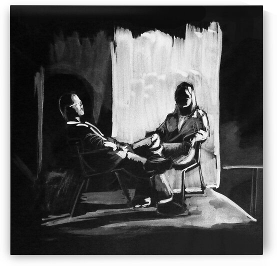 Couple in full chiaroscuro by Simple Art