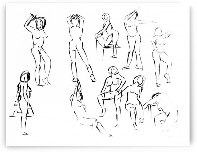 Feminine silhouette in movement by Simple Art