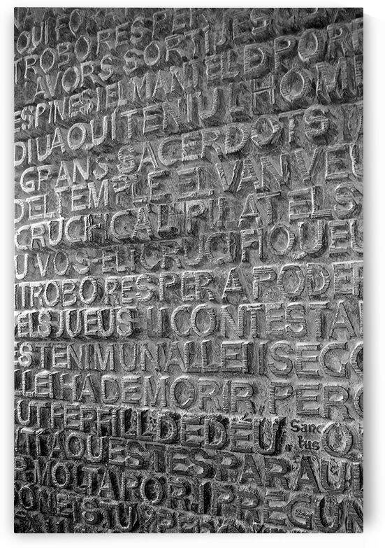 Door of the Passion Facade at Gaudis La Sagrada Familiain Barcelona by Ken Anderson Photography