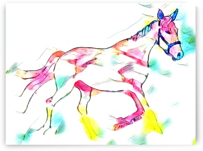 Rainbow Horse  by LeGustavienne