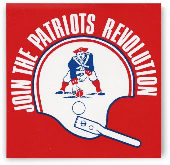 Vintage New England Patriots Helmet Art by Row One Brand
