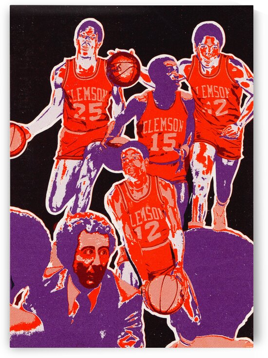 1978 Clemson Tigers Basketball by Row One Brand