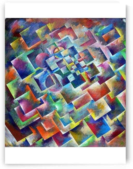 sc12 abstractpaintingsquar2 orange   by VishalsArt