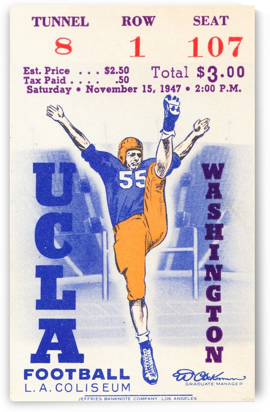 1947 UCLA vs. Washington by Row One Brand