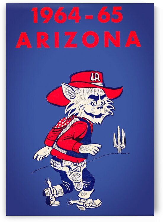 1964 Arizona Wildcat Art by Row One Brand