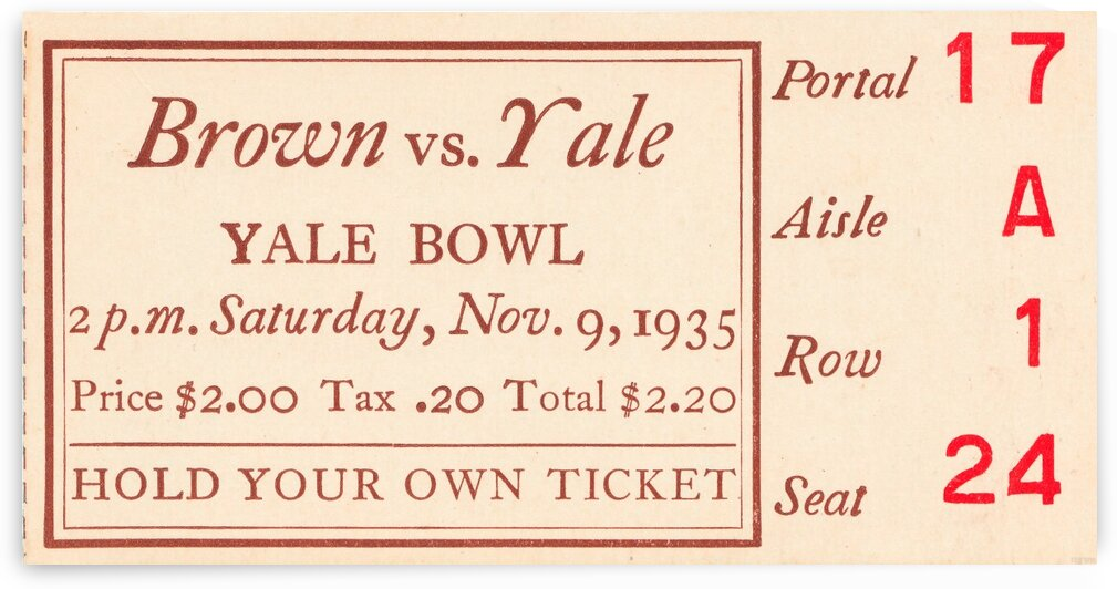 1935 Brown vs. Yale by Row One Brand