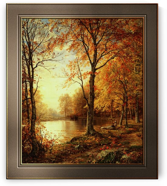 Indian Summer by William Trost Richards Fine Art Old Masters Reproduction by xzendor7