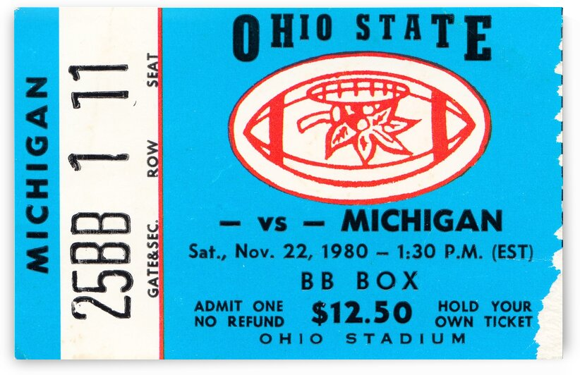 1980 Ohio State vs. Michigan by Row One Brand